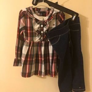 Tommy Hilfiger plaid outfit